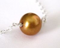 simple freshwater pearl necklace - muyinjewelry.com