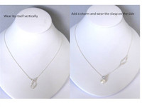 SAFETY PIN front clasp necklace in sterling silver -- wear by itself or add a charm