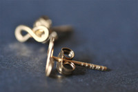 TINY TEENY INFINITY post earrings
