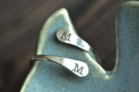 adjustable initial ring - couples ring - muyinjewelry.com