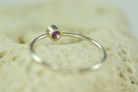 3mm birthstone ring, gemstone ring, mother's ring | muyinjewelry.com