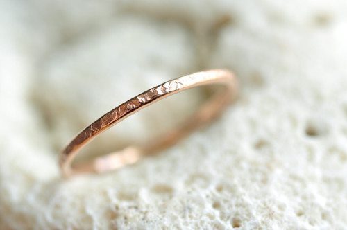 skinny 14k rose gold filled ring