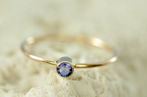 14k birthstone ring, gemstone ring, mother's ring | muyinjewelry.com