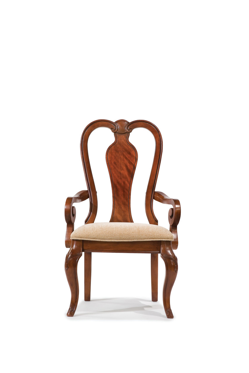The Evolution Queen Anne Arm Chair Available At Starfine Furniture