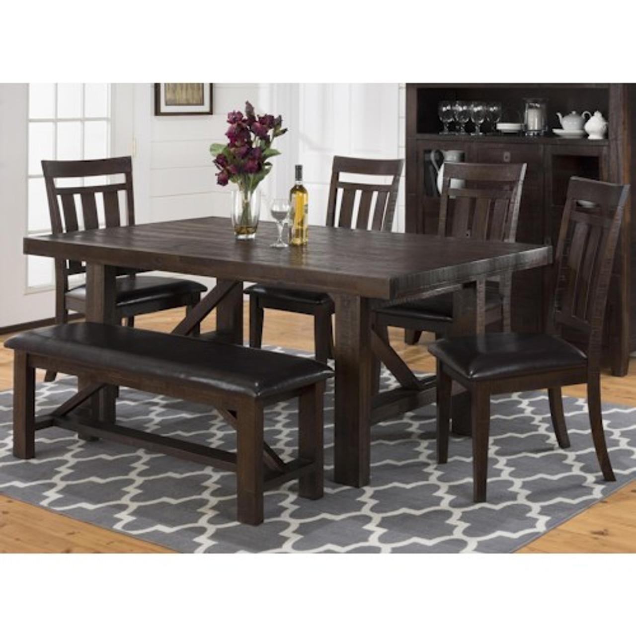 Miraculous Kona Grove 6 Piece Dining Set Includes Table Bench And 4 Chairs Creativecarmelina Interior Chair Design Creativecarmelinacom