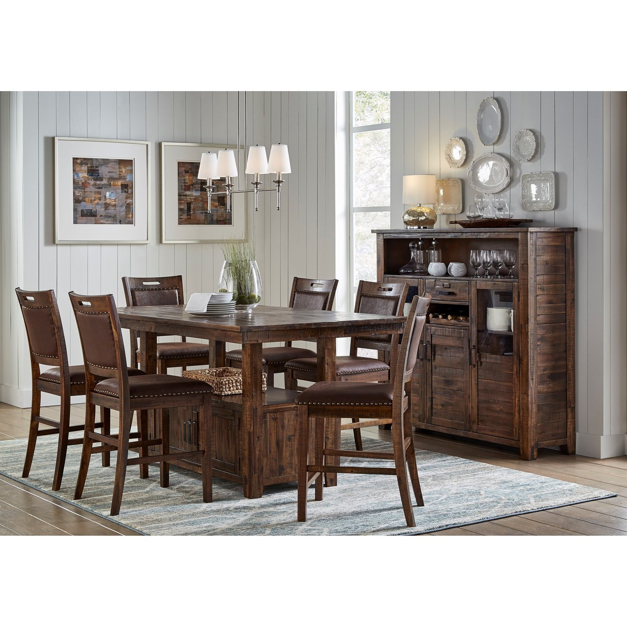 Cannon Valley 7-Piece Dining Set (Includes Storage Table and 6 Chairs)