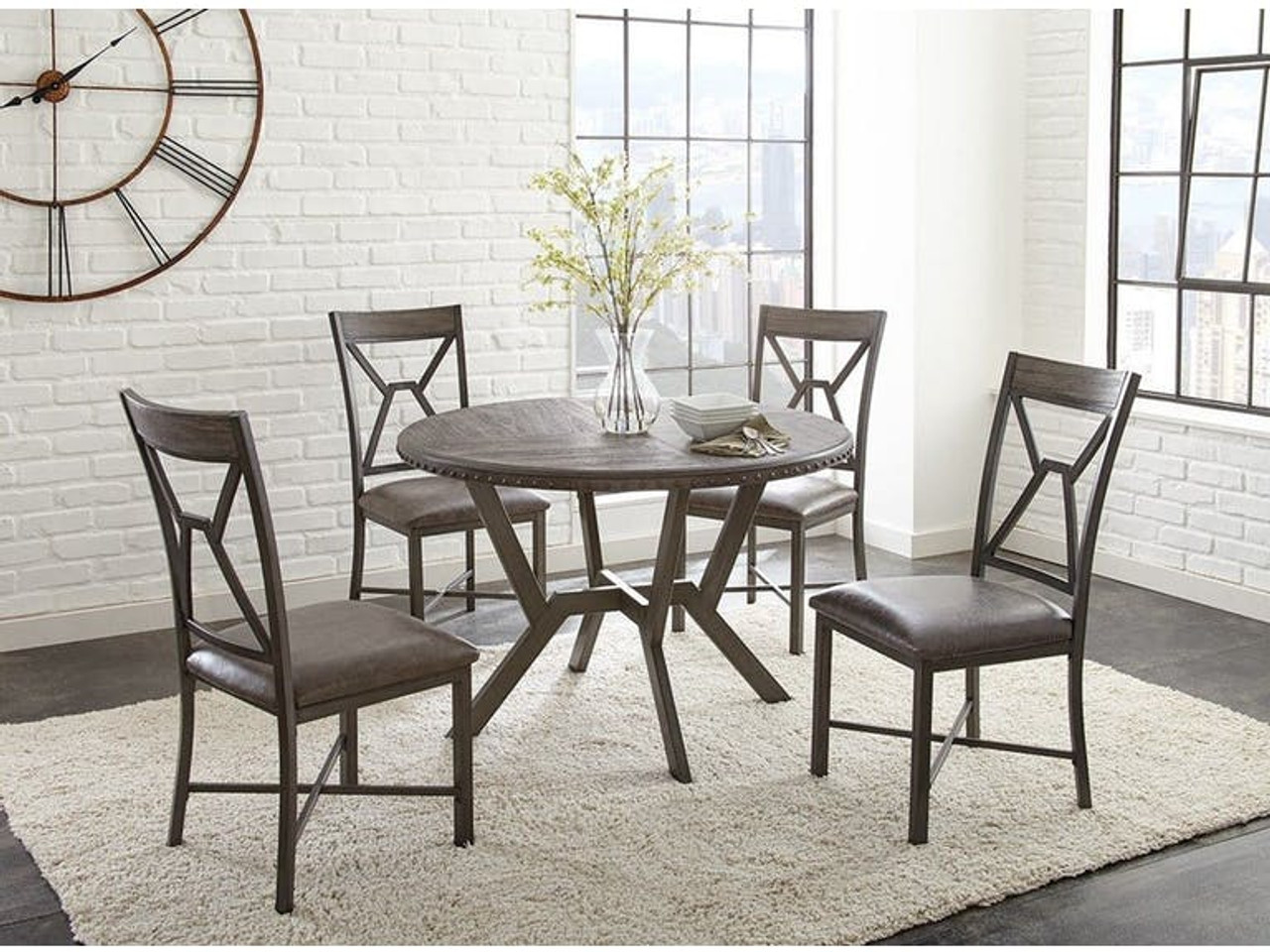 Buy Alamo 5 Piece Dining Set Includes Table 4 Chairs On Sale Near Houston Friendswood League City Starfine Furniture Mattress