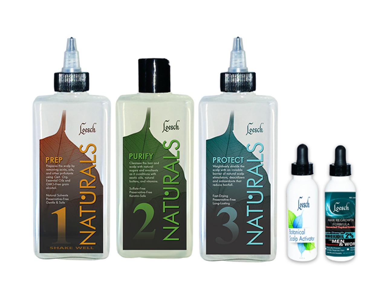 Naturals Hair Growth System Kit (Level 3 FOR MEN & WOMEN) - Kit Value: $129.50