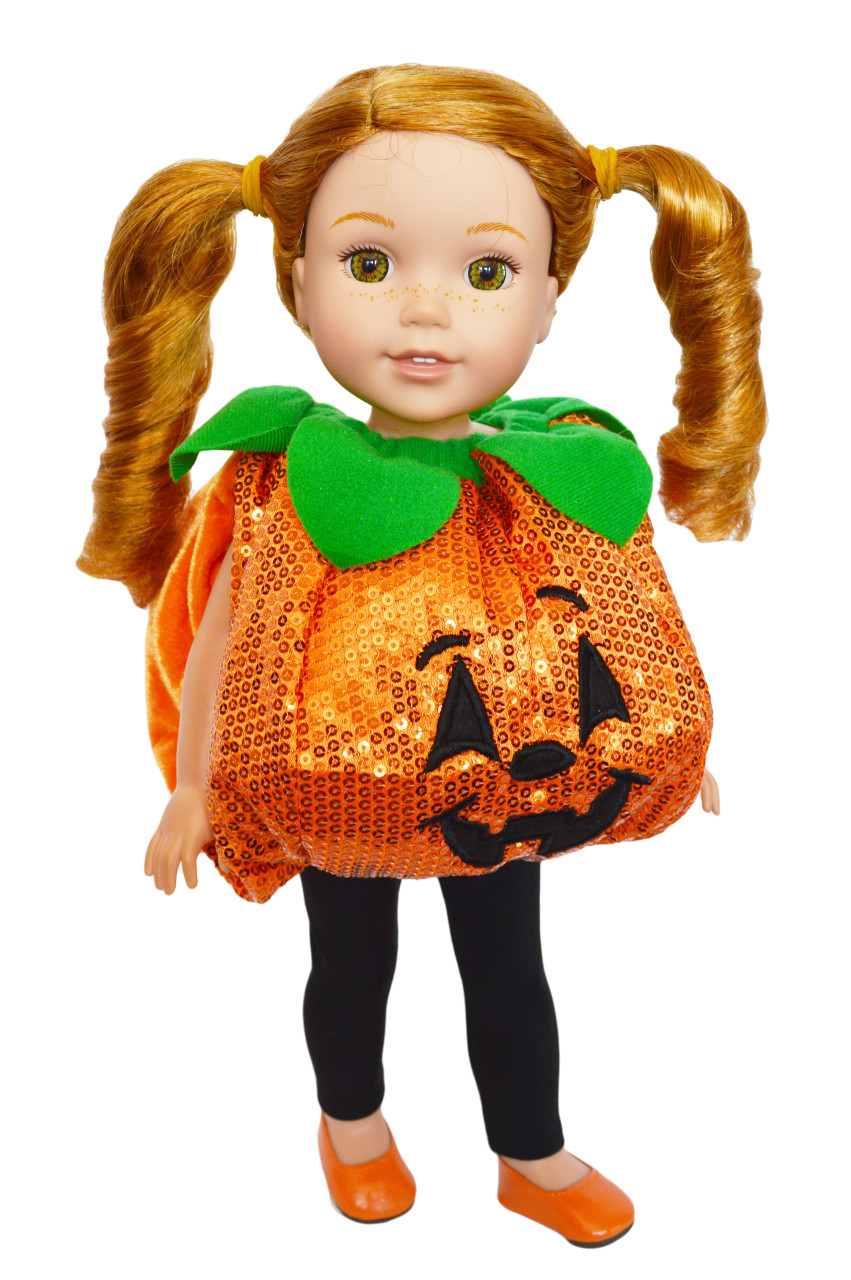 Ghost Costume with Accessories for Wellie Wisher Dolls 14.5 Inch Doll Clothes