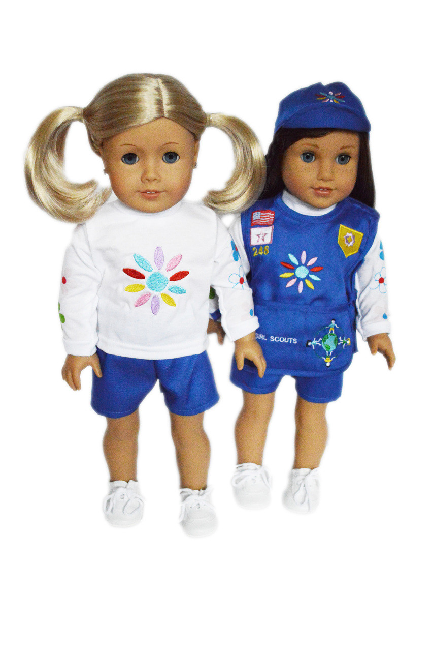 Daisy Girl Scout Inspired Outfit Doll Clothes for 18 inch American Girl Dolls