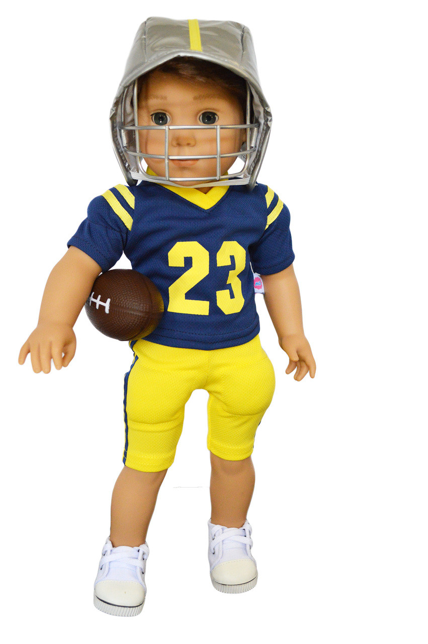 My Brittany S U Of M Football Player Outfit For American Girl Doll Logan