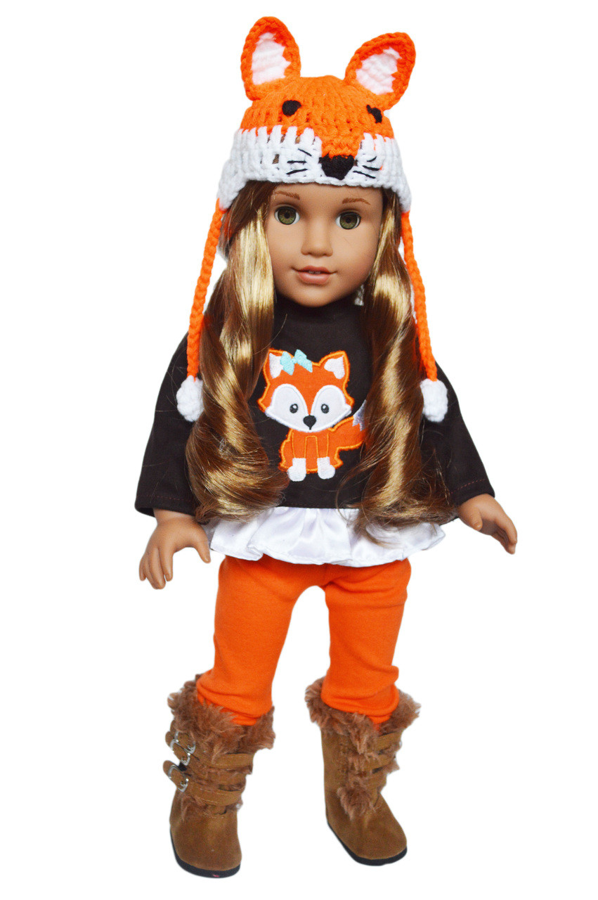 18 Inch Doll Clothes Brittany/'s My Fall Woodland Fox Outfit for 18 Inch Dolls