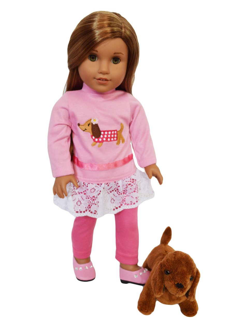 """Owls with Glasses//Pink Pajamas 18/"""" Doll Clothes American Girl"""