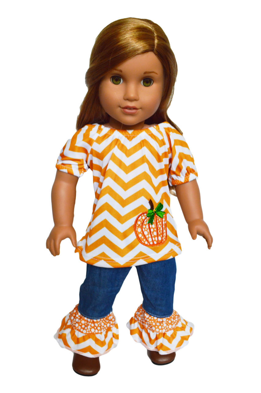 2c5b3075917d0 Cozy Autumn Outfit for American Girl Dolls, My Life as Dolls and Our  Generation Dolls