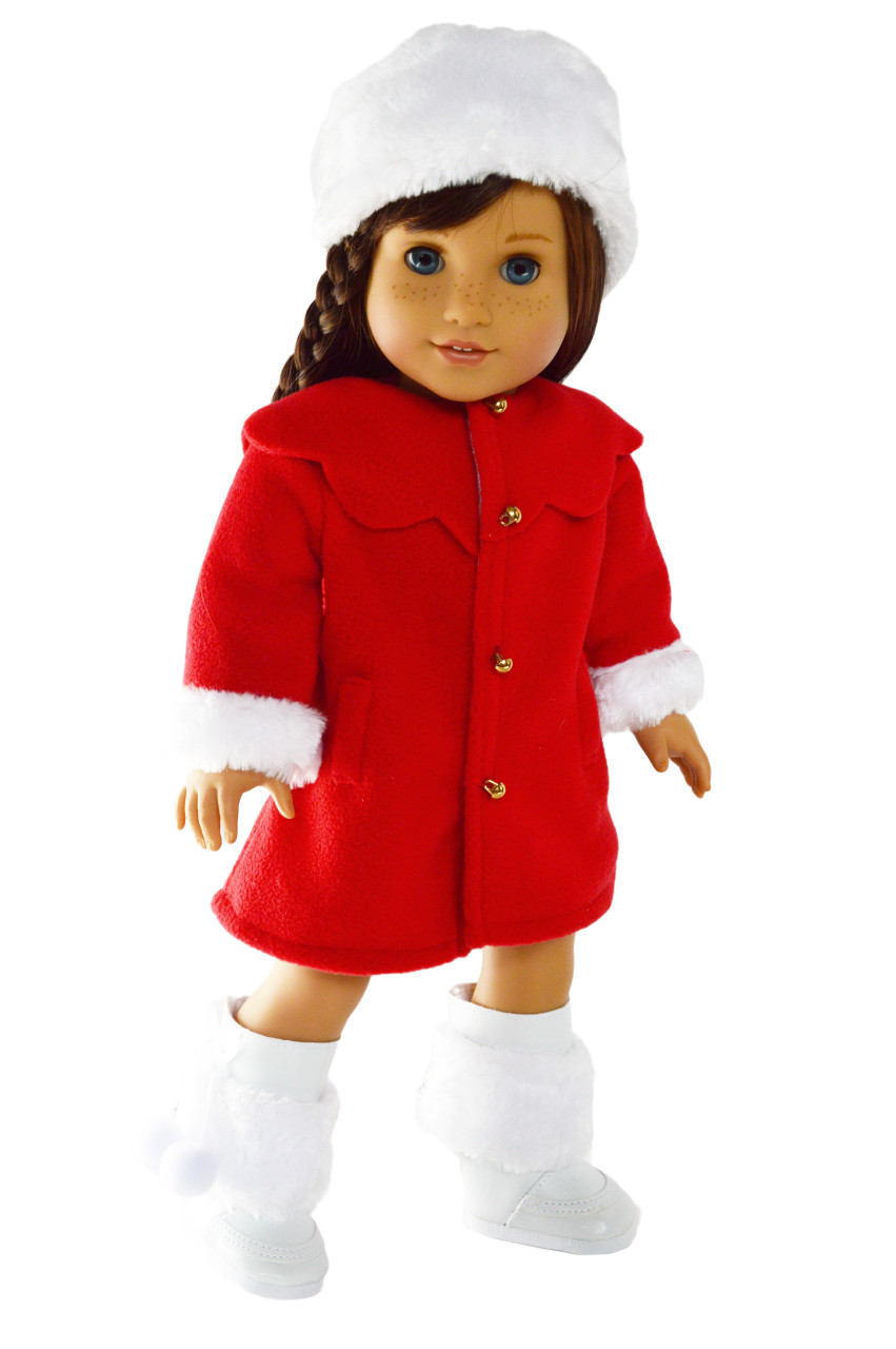 "1pr Red Socks Fits American Girl Dolls 18/"" Doll Clothes"