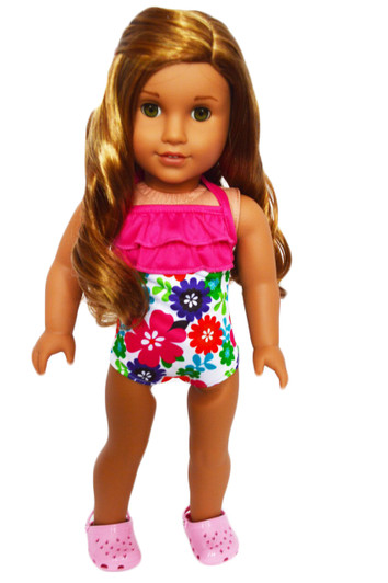 """Bright Colorful Flowers Swimsuit  for 18/"""" Doll Clothes American Girl"""