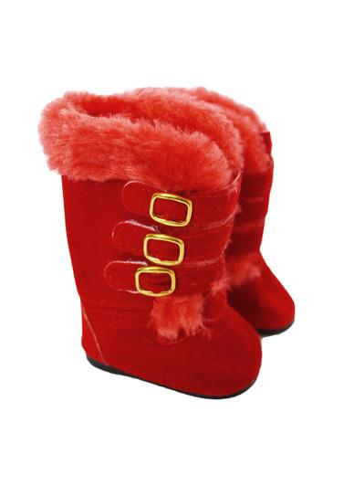 White Pom Pom Boots  Fits 18 inch American Girl Dolls