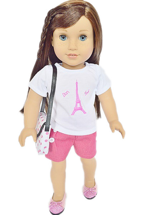 My Brittany's Paris Outfit Complete with Purse and Shoes for American Girl Dolls