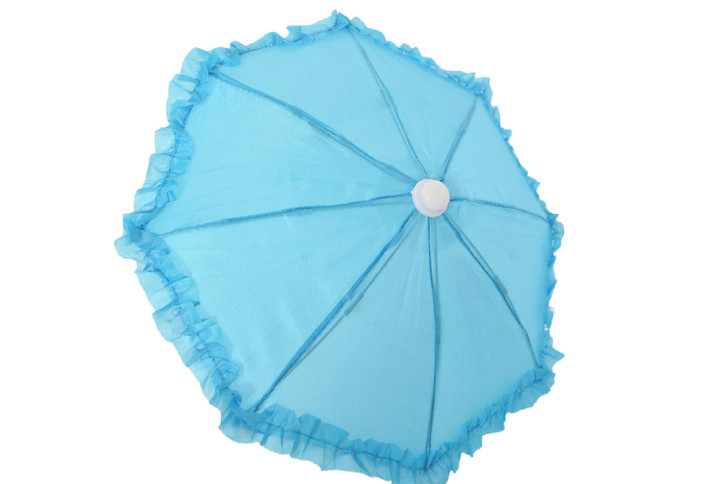 Cyan Blue Umbrella Compatible with American Girl Dolls and Wellie Wisher Dolls