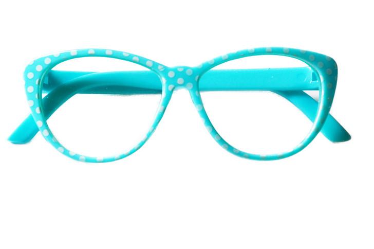 LIGHT BLUE POLKA DOT READING GLASSES