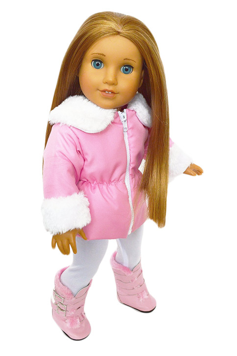 My Brittany's Pink Parka Jacket with Leggings and Boots