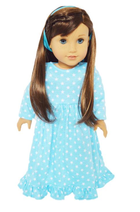Blue Star Nightgown For 18 Inch Dolls