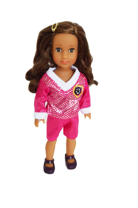 Pink Mini Soccer Outfits For American Girl Dolls Minis