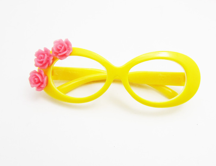 Yellow Tropical  Glasses For American Girl Dolls