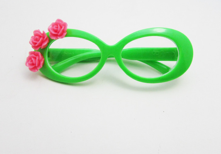 Tropical Green Glasses For American Girl Dolls