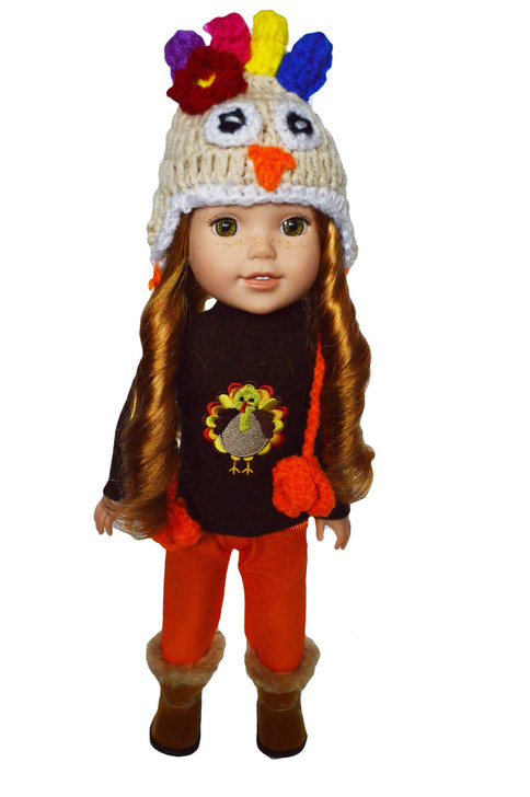 My Brittany's Fall Turkey Outfit for American Girl Wellie Wishers