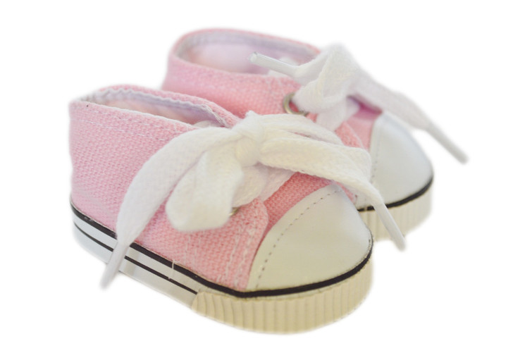 My Brittany's Pink Canvas Tennis Shoes for Wellie Wishers Dolls
