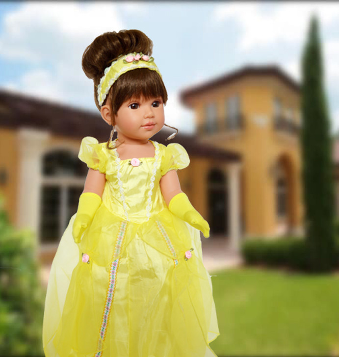 Yellow Beauty Gown Fits 18 Inch American Girl Dolls, My Life as Dolls and Kennedy and Friends Dolls