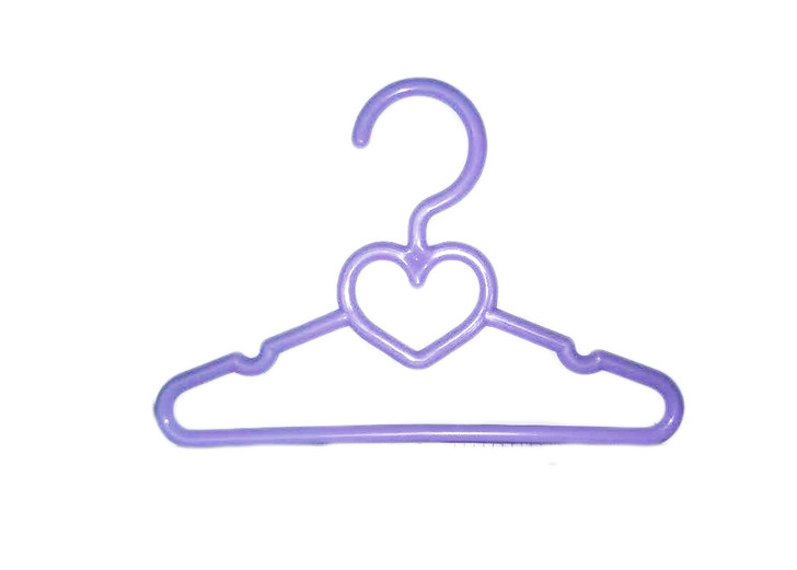 My Brittany's 5.5 Inch Lavender Heart Hangers for 14 Inch Dolls