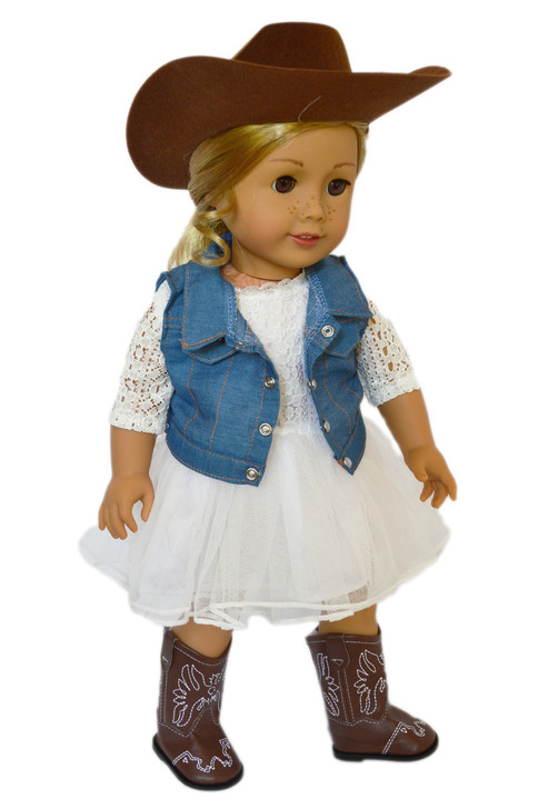 My Brittany's Ivory Lace Dress For American Girl Dolls