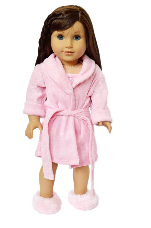 My Brittany's Pink Robe with Slippers for American Girl Dolls