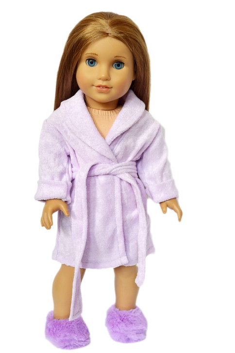 My Brittany's Lavender Robe with Slippers for American Girl Dolls