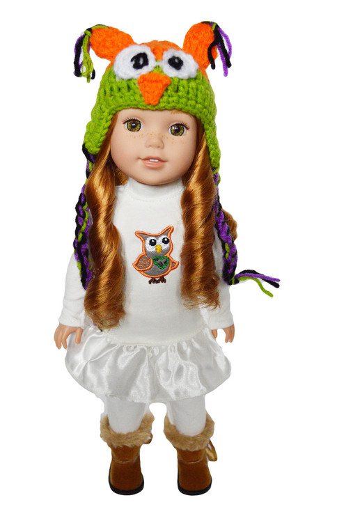 My Brittany's Owl Outfit for Wellie Wisher Dolls- sold out on reorder