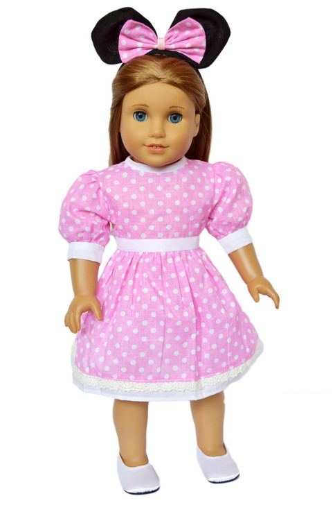 My Brittany's Pink Mouse Dress for American Girl Dolls