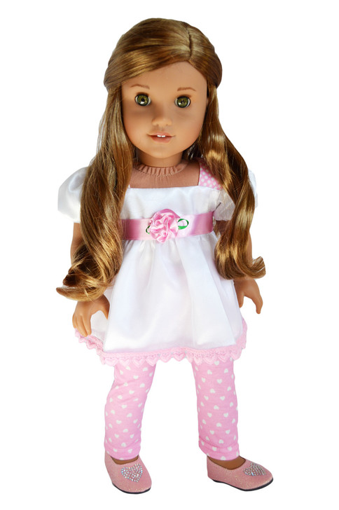 My Brittany's Pink Hearts and Roses Outfit for American Girl Dolls