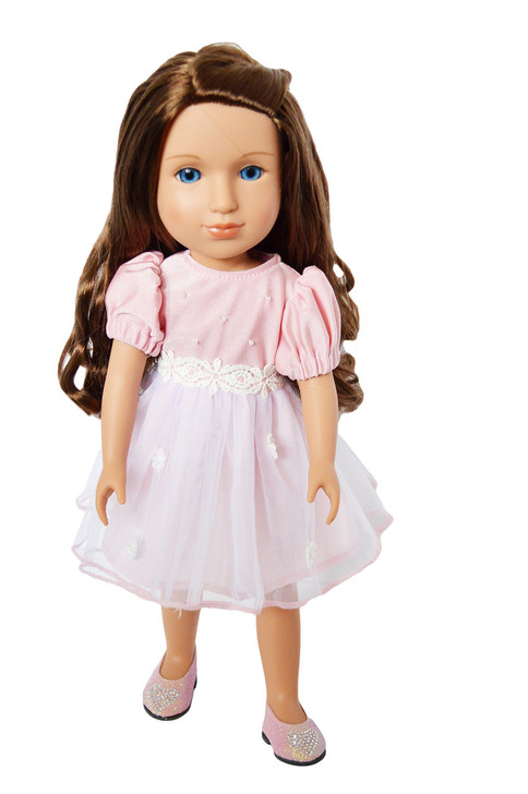 My Brittany's Easter Pink Dress for Wellie Wisher Dolls -Glitter Girl Dolls-Hearts for Hearts Dolls