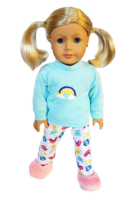 My Brittany's Rainbow Pjs for American Girl Dolls- 18 Inch Doll Clothes