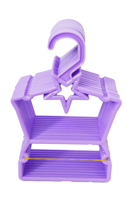 My Brittany's Purple Star Hangers for Wellie Wisher Dolls- Hangs Your Doll Tops and Bottoms