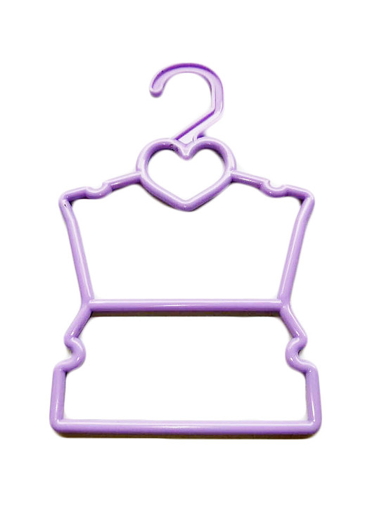 My Brittany's Purple Heart Hangers for Wellie Wisher Dolls- Hang Your Doll's Tops and Bottoms