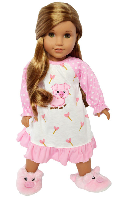 My Brittany's Piggy Nightgown for American Girl Dolls