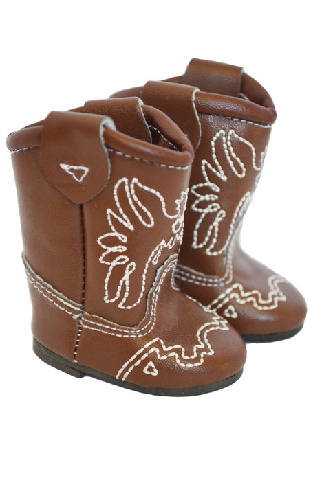 My Brittany's Brown Western Boots for Wellie Wisher Dolls-Glitter Girl Dolls-14 Inch Doll Boots