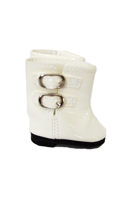 My Brittany's White Rain Boots for Wellie Wisher Dolls-Glitter Girl Dolls-14 Inch Doll Boots