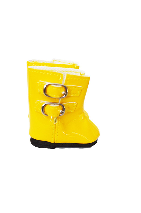 My Brittany's Yellow Rain Boots for Wellie Wisher Dolls-Glitter Girl Dolls- 14 Inch Doll Boots