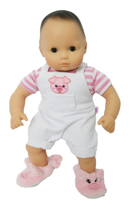 My Brittany's Little Piggy Shortalls for Bitty Baby and Bitty Twins