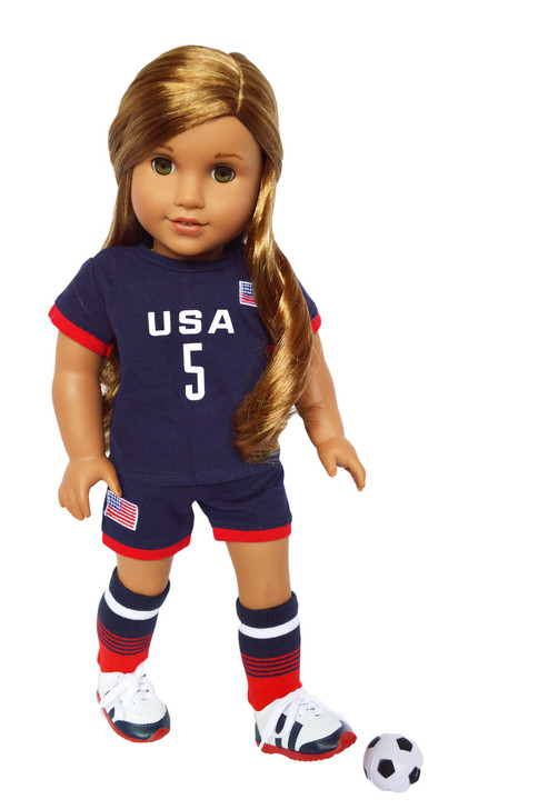 My Brittany's USA Soccer Outfit for American Girl Dolls- Complete