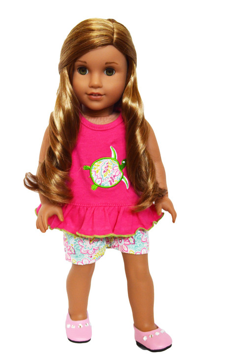 My Brittany's Paisley Turtle Outfit for American Girl Dolls- 18 Inch Doll Clothes